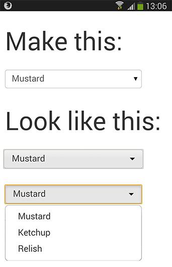 HTML select vs Bootstrap UI drop down