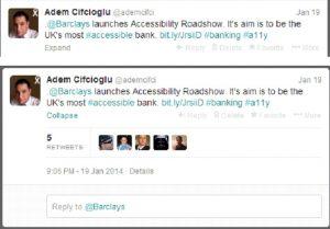 Twitter Progressive Disclosure example
